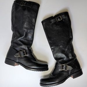 Frye Veronica Black Slouch Boots 7 B
